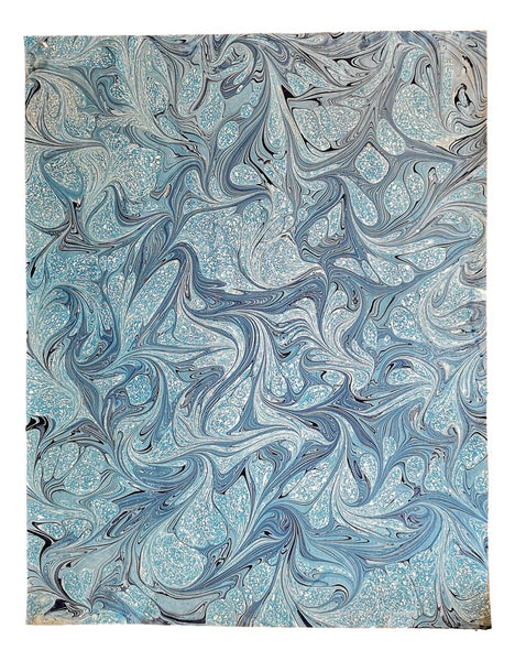 Chena River marbled paper