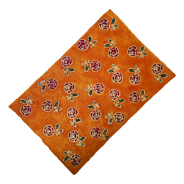 Hatakami Batik - Orange Rose