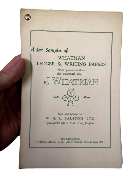 j whatman sample books