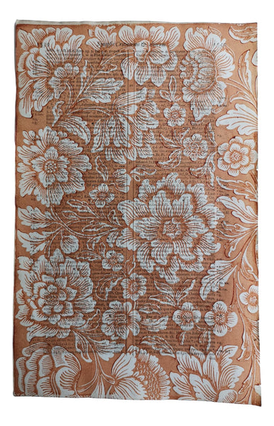 Floral No.53 Red Ochre