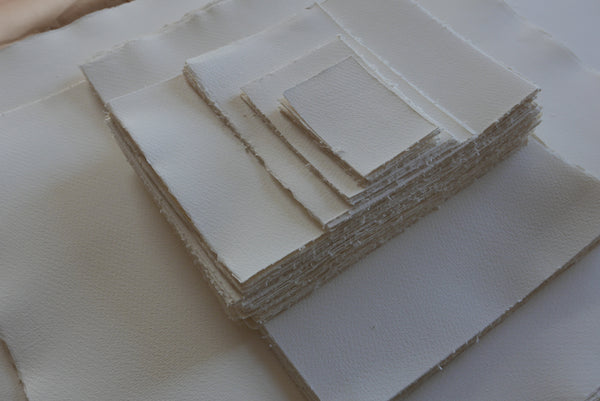 WSH 300gsm 167lb handcut paper with deckled edges