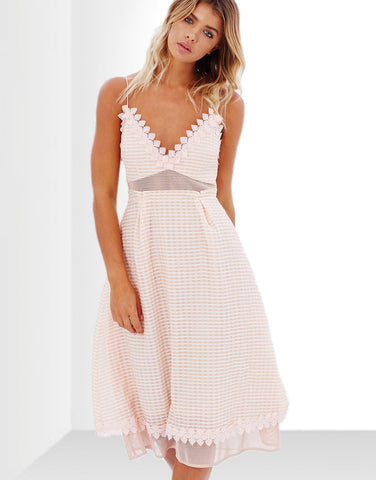 Tie-Front Tailored Dress