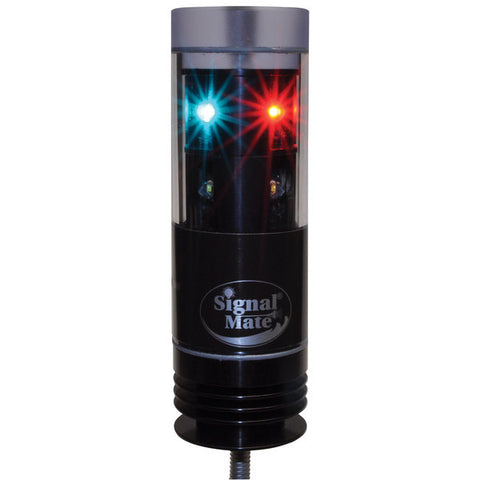 Signal Mate Pedestal Mount Tri-Color LED Navigation Light with Anchor Light, 3-Wire