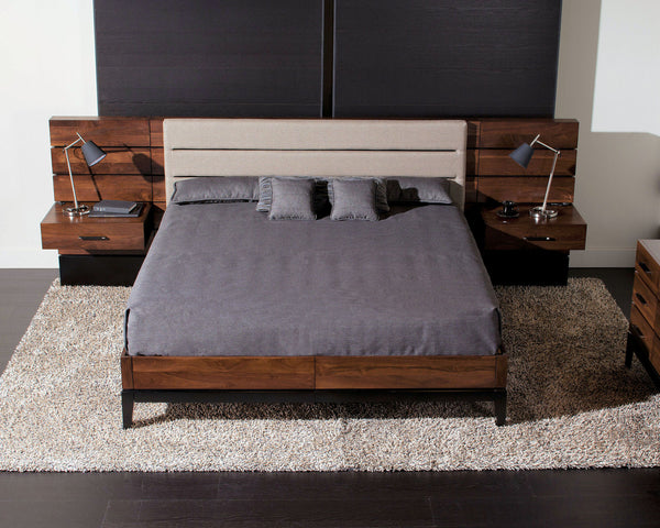 Definity - Upholstered Panel Bed w/ Storage Drawers