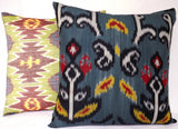 Turquoise Palace - Ikat Couture Pillow, Cloud 9