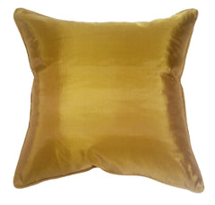 Turquoise Palace - Art Silk Pillow, Gold