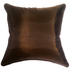 Turquoise Palace - Art Silk Pillow, Chocolate