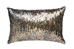 Turquoise Palace - Lazy Lumbars Pillow, Metallic Brass