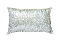 Turquoise Palace - Lazy Lumbars Pillow, Metallic Silver