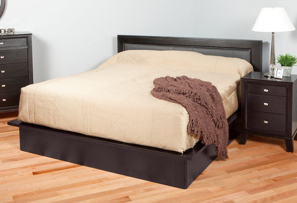 Downtown - Platform Bed w/ Leather Panel