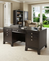 Downtown - Bow Front Desk w/ Box Drawers, File Drawer and Printer Drawer