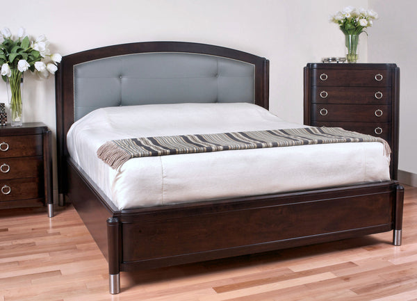 Venice - Mansion Bed w/ Leather Headboard