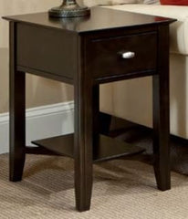 Solid Choices Collection - Eclectic Shelf End Table