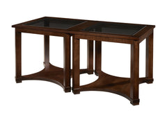 Solid Choices Collection - Eclectic Bunching Table w/ Glass