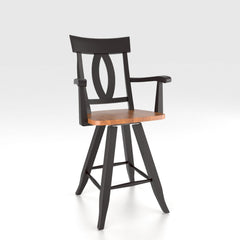 "Canadel - Swivel Barstool 24"" with arms : STO0100SA-24"
