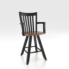 "Canadel - Swivel Barstool 24"" with arms : STO0119SA-24"