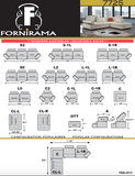 Fornirama - 7725 ADJUSTABLE BACK SECTIONAL