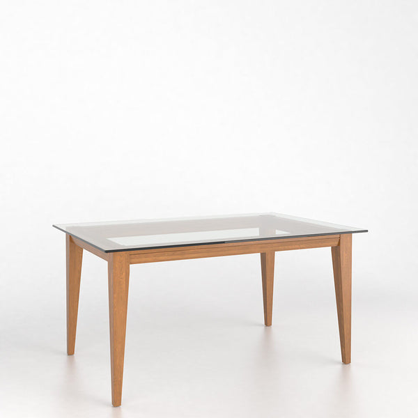 Canadel Glass Top Table 4060