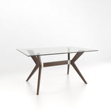 Canadel Downtown - Rectangular glass table with pedestal : GRE4060DP