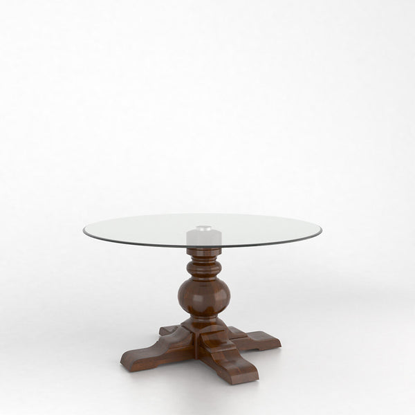 Canadel - Round glass table with pedestal : GRN5454XT