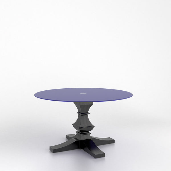 Canadel - Round glass table with pedestal : GRN5454TP