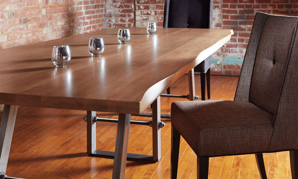 "Dinec - Kelsey Live Edge Table TL930(top 1 ⅝"" without apron)"