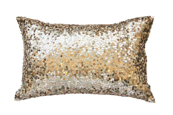 Lazy Lumbars Pillow, Metallic Gold