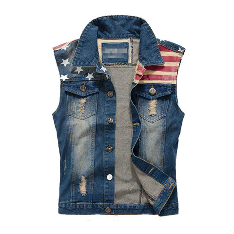 Men's Denim Vest