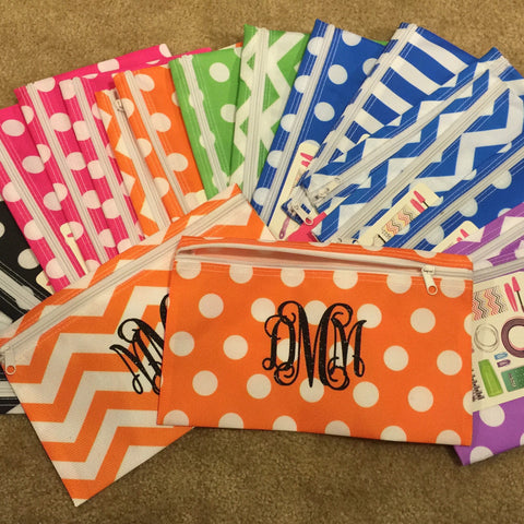 Personalized Zipper Pouch - Assorted Colors