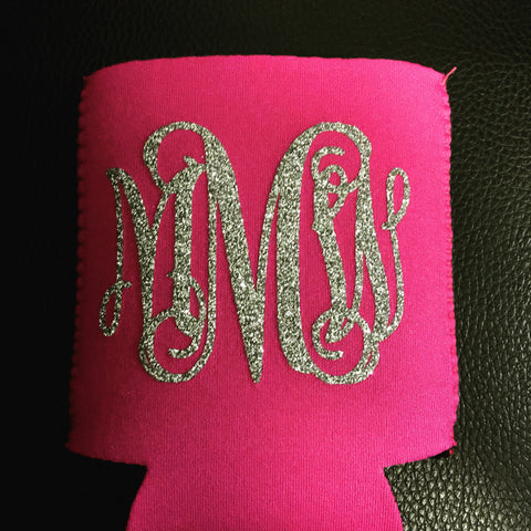 Custom Koozie - Monogram, School, Team, Wedding, Graduation Gift