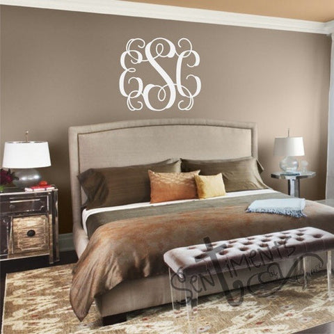 Large Wall Monogram Decal
