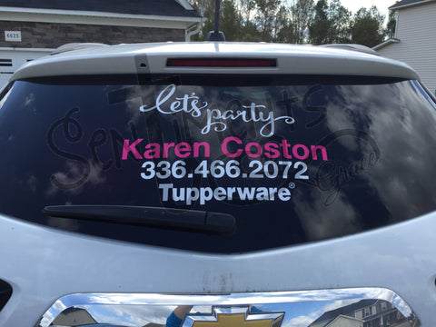 Tupperware Car Decal