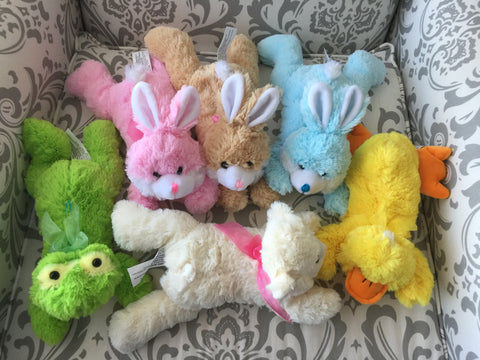 Mini-Plush Easter Bunnies, Ducks, Lambs, Frogs