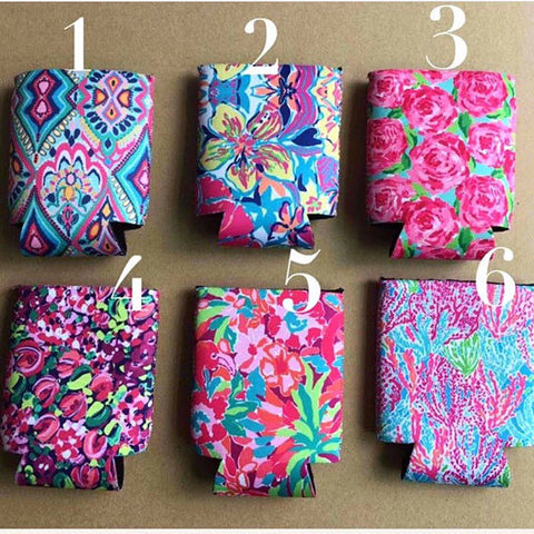 Lilly Inspired Can Holder Koozie