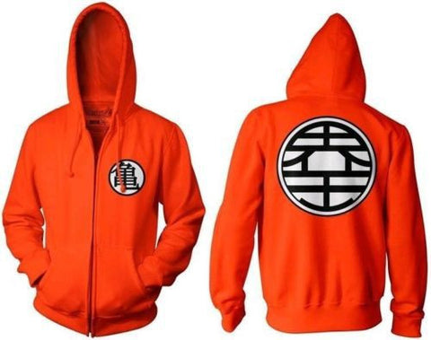 Dragon Ball Z Goku Kame Symbol Cosplay DBZ Zip Hoodie Jacket Coat For Men Anime Halloween Cosplay Costume Sport Wear