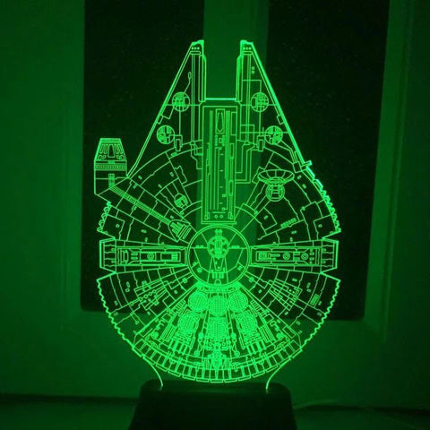 Star Wars BB8 droid 3D Bulbing Light toys for 2016 --- New  7 color changing visual illusion LED lamp Darth Vader Millennium Falcon Toy