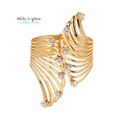 Egyptian Gold Plated Wing Arm Bangle