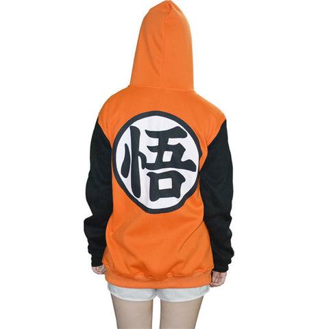 Dragon Ball Z Hoodie Goku Cosplay Hooded Sweatshirt Costumes Jacket For Kids And Adults XXS-XXL AY285