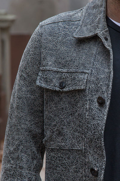 B&W Crackle Carcoat, with or without a removable liner, or affixed as you wish.