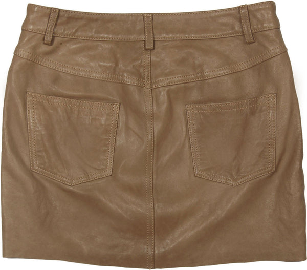 Toffee Jeanstyle Mini Skirt in Lamb