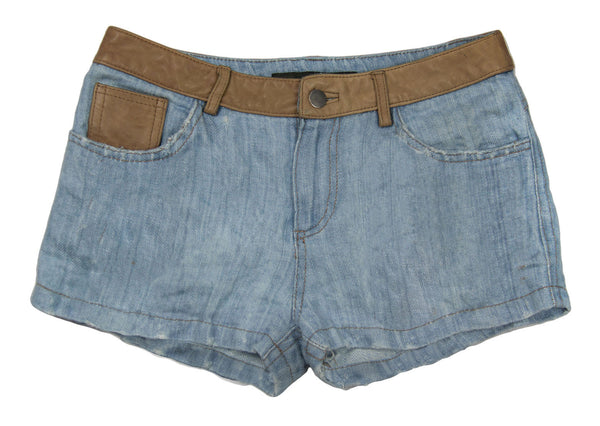 Linen Jean Shorts, With or Without Patches