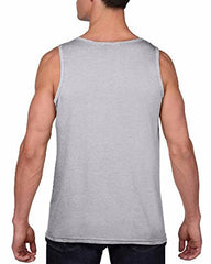 7 ate 9 Apparel Men's Drinkin Like Lincoln 4th of July Grey Tank Top