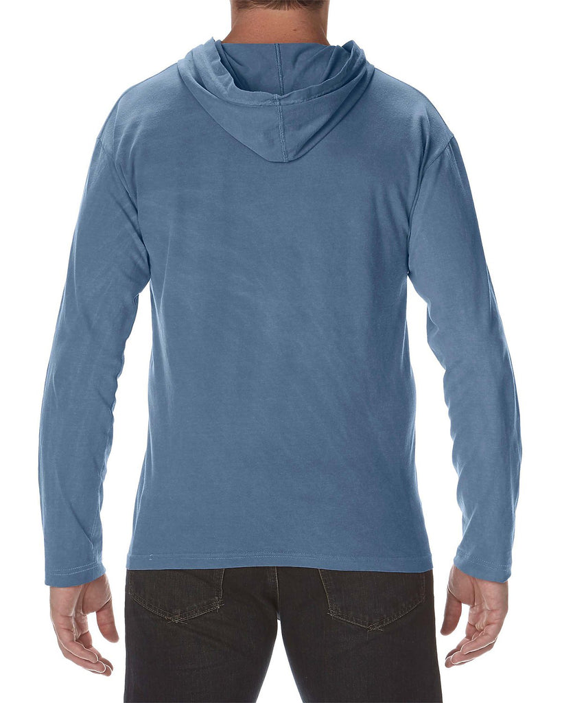 7 ate 9 Apparel Unisex Adult #Essential Quarantine Blue Hooded Shirt