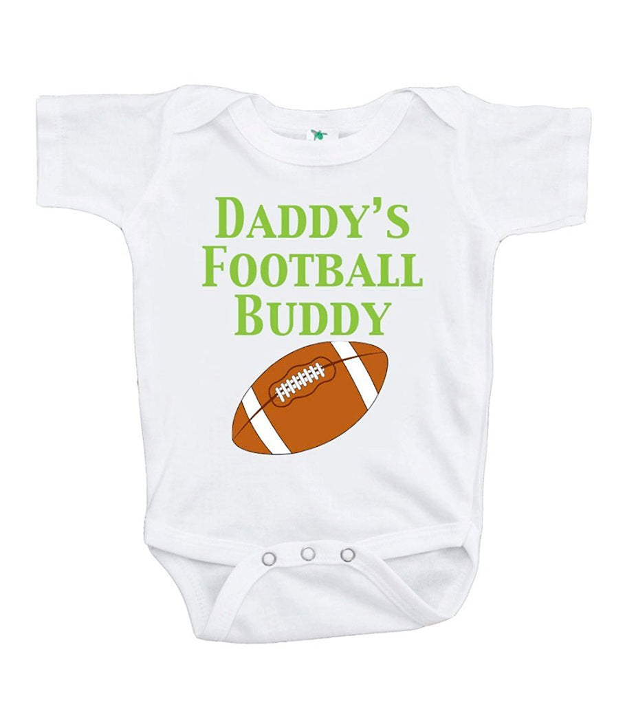 7 Ate 9 Apparel Baby Boy's Daddy's Football Buddy Onepiece