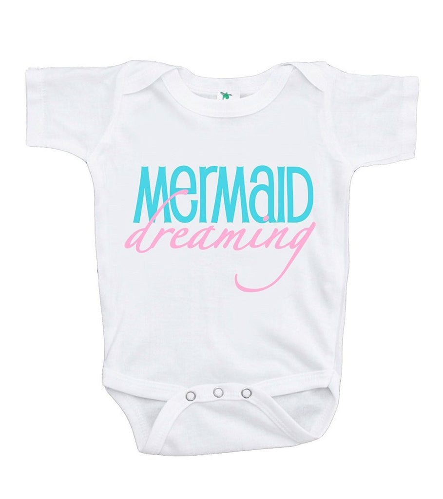 7 ate 9 Apparel Baby Girl's Mermaid Dreaming Onepiece