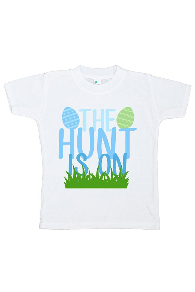 7 ate 9 Apparel The Hunt Is On Boy's Novelty Easter Tshirt