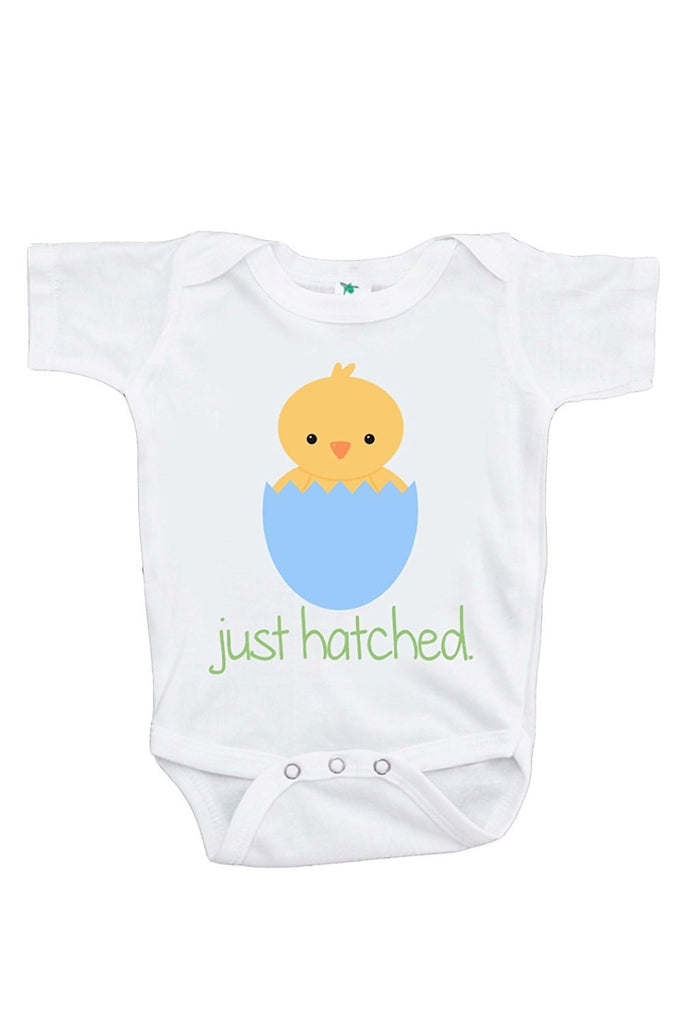 7 ate 9 Apparel Unisex Baby's Novelty Just Hatched Baby Chick Easter Onepiece