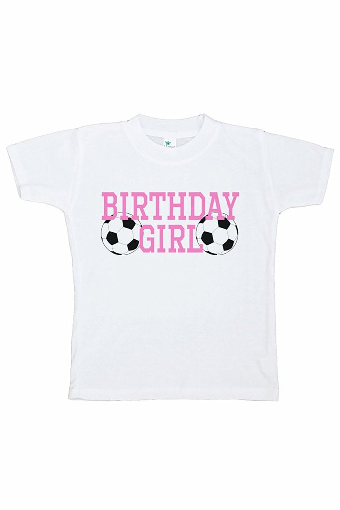 7 ate 9 Apparel Girl's Soccer Birthday T-shirt