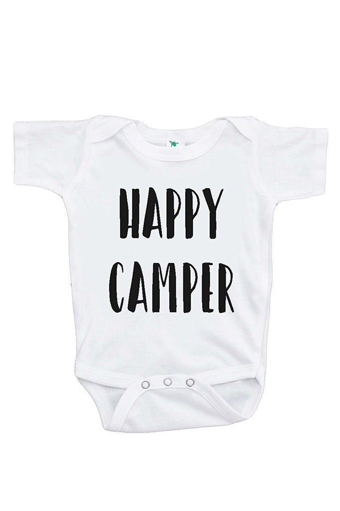 7 ate 9 Apparel Baby's Happy Camper Outdoors Onepiece