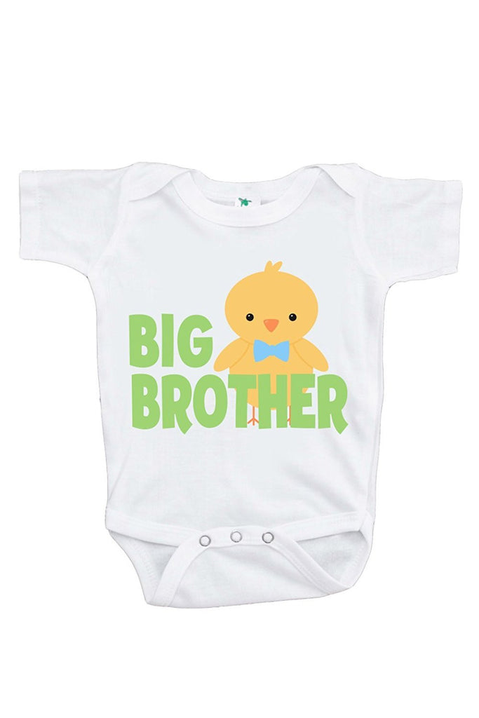 7 ate 9 Apparel Big Brother Baby Boy's Novelty Easter Onepiece